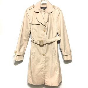 KENNETH COLE REACTION TAN BELT TRENCH JACKET COAT